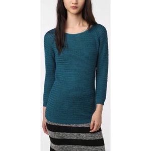 Anthro Coincidence & Chance Teal Knit Sweater Sz M